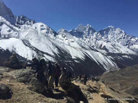 Acclimatization hike above Dingboche