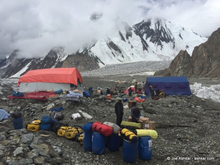 K2: Breaking down Base Camp and trekking out