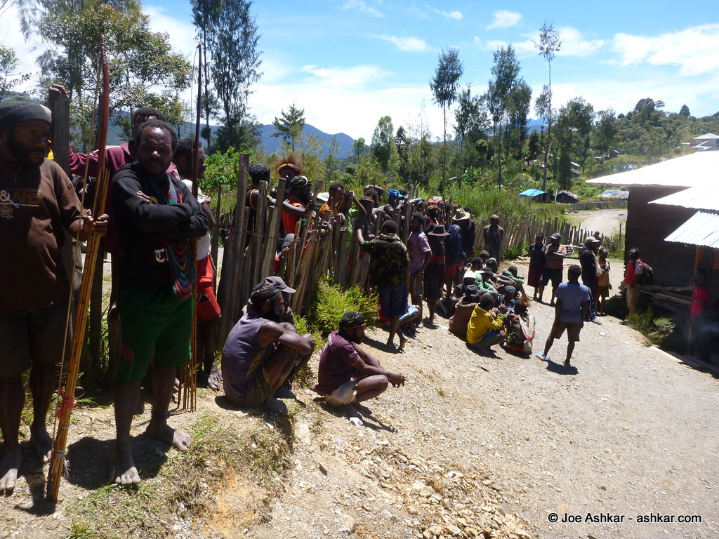 Villagers and Porters in Sugapa.