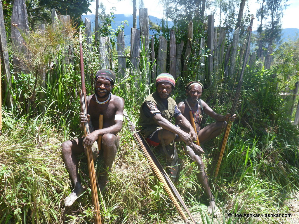 Moni tribe members in their local outfit.