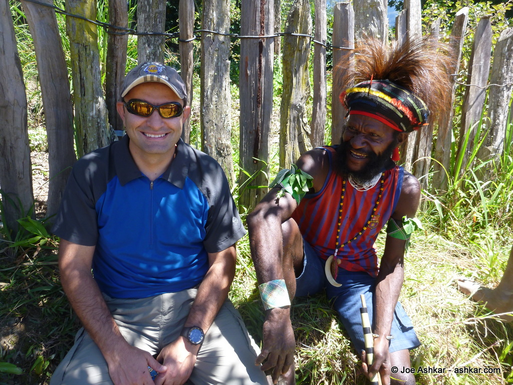 Having a laugh with one of the villagers despite our language barrier.