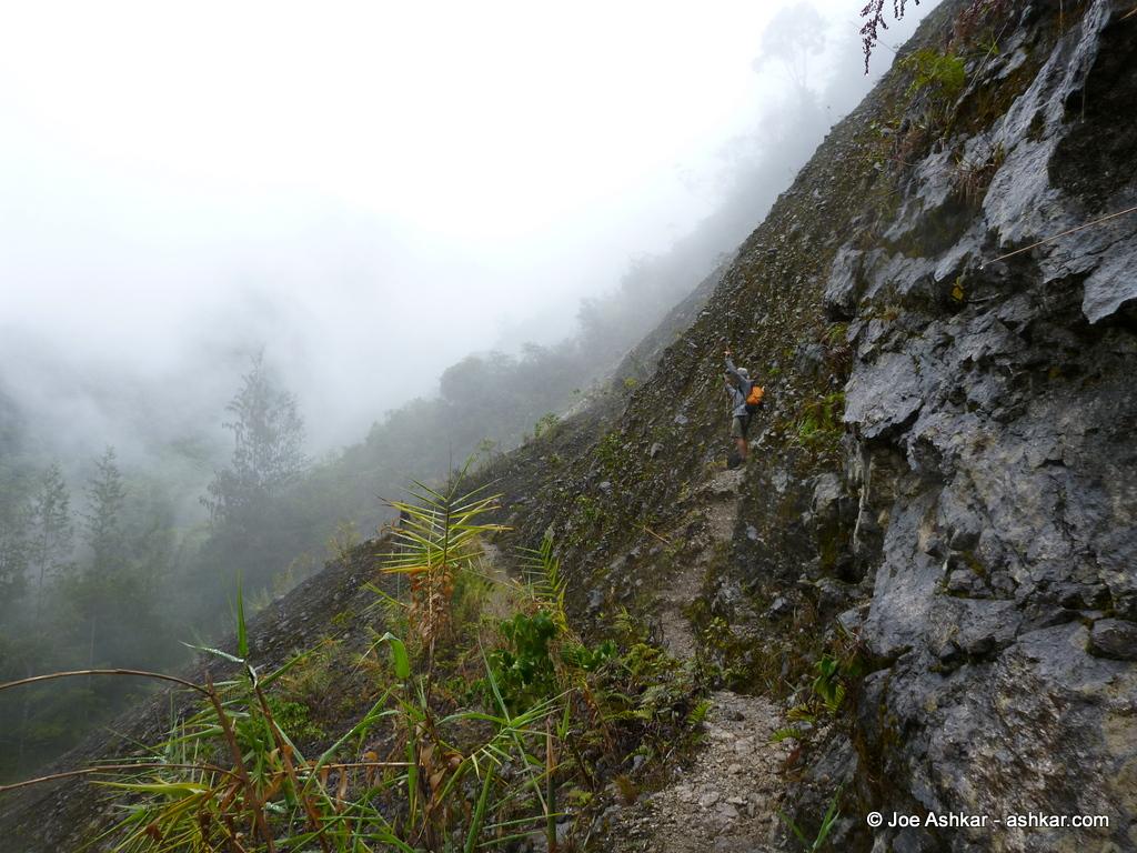 Exposed ridge traverse.