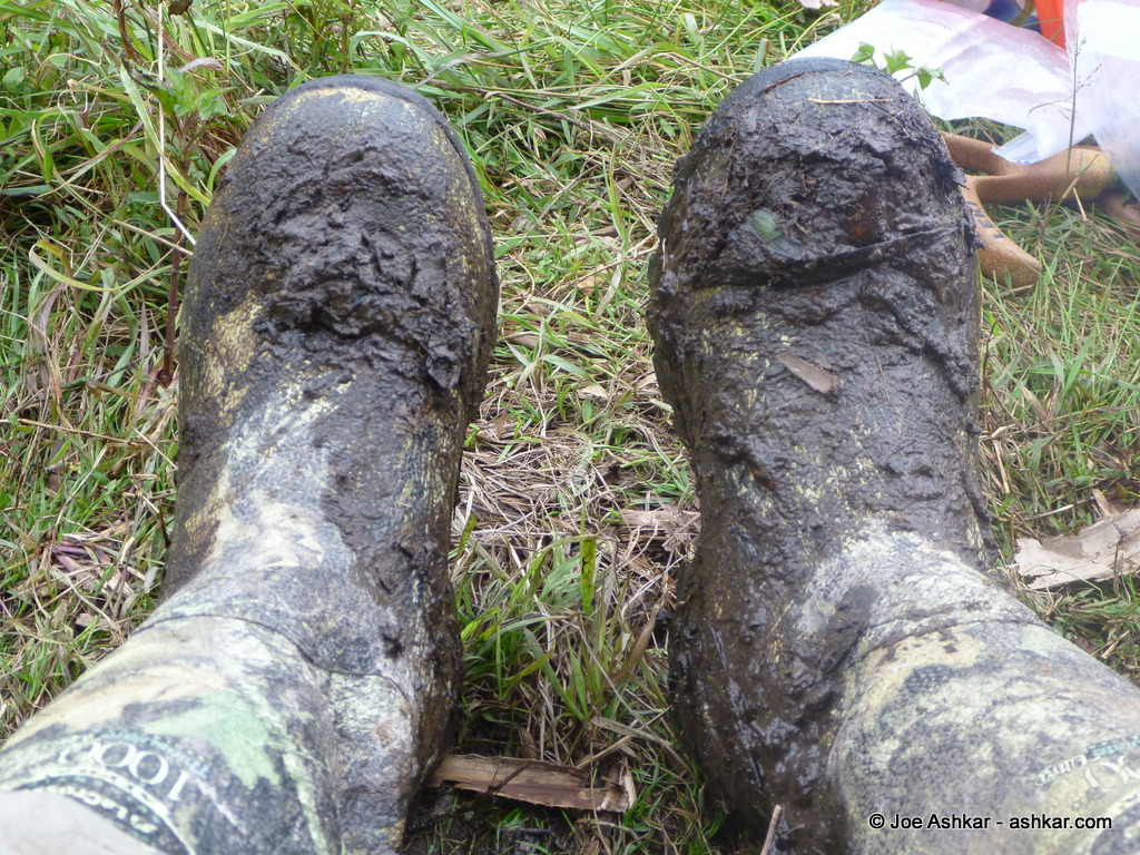 My trekking boot after washing them!