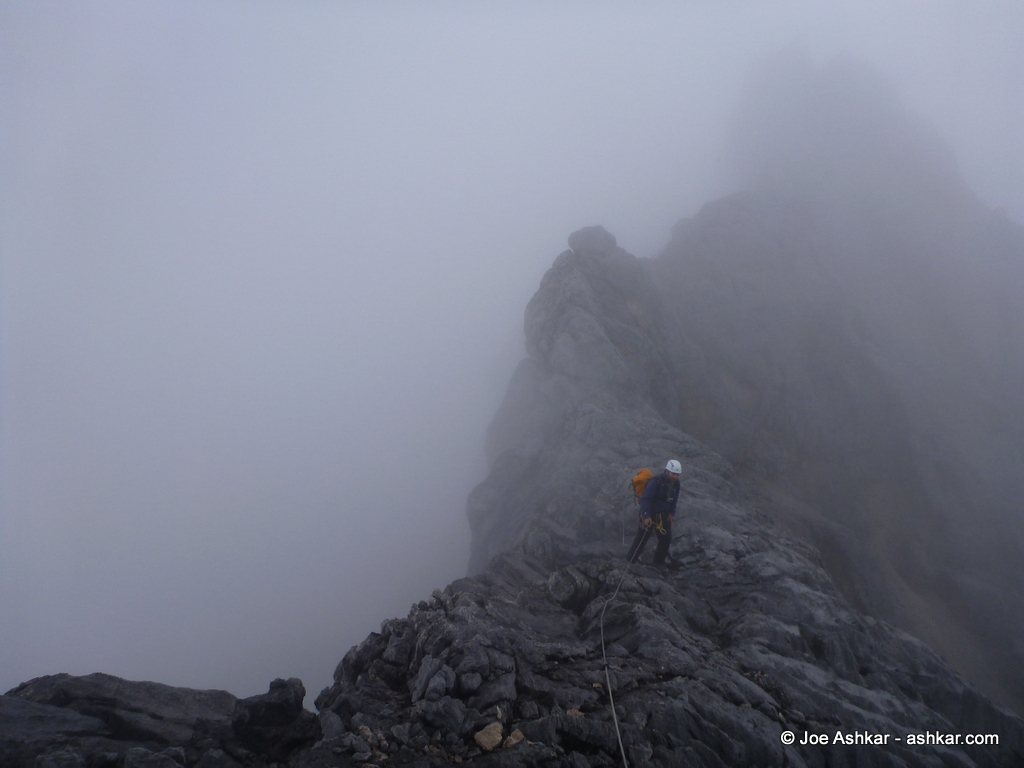Up high in the clouds on Carstensz Pyramid.