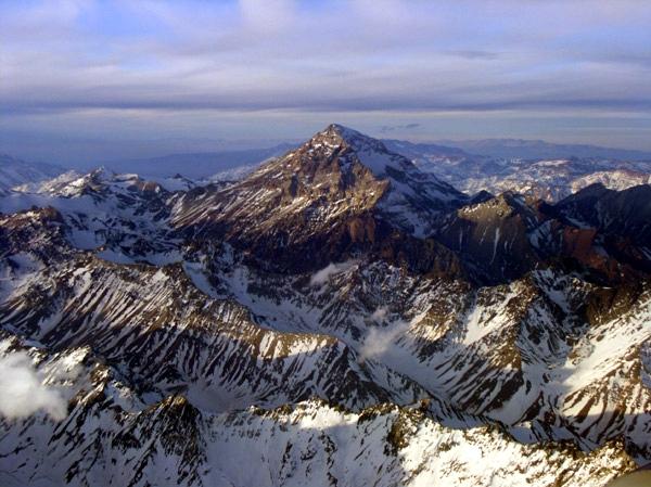 Aconcagua aerial view.
