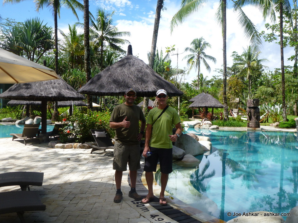 Joe Ashkar & Scott Woolums at the Rimba Papua Hotel.