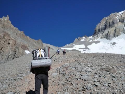 Climbing up to Camp 2.