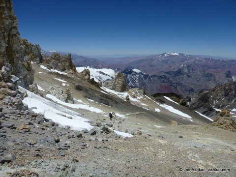 Climbing high to Camp Colera at 6000 meters.