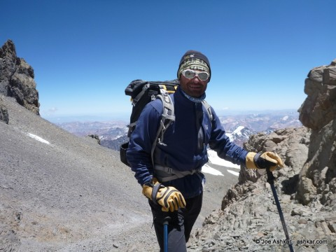 Climbing to the Summit of Cerro Aconcagua.