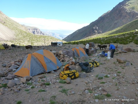 Our Camp in the Vacas Valley.