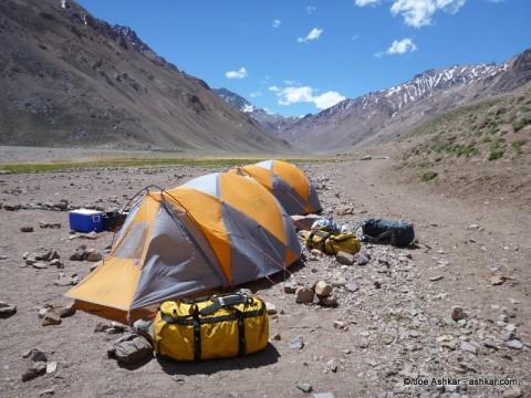 Our camp at Casa de Piedra.