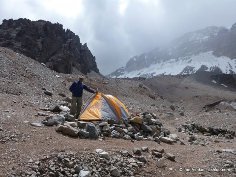 Joe Ashkar at Plaza Argentina / Aconcagua Base Camp.