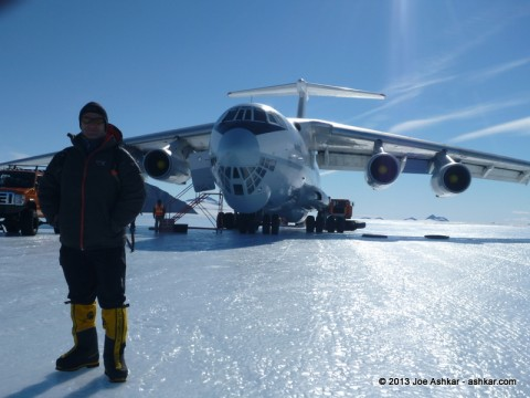 Ilyushin on the Blue Ice runway at Union Glacier.