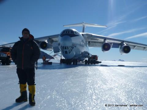 Ilyushin on the Blue Ice runway at Union Glacier.
