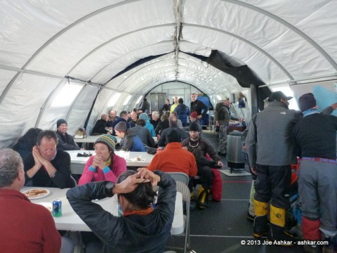 Guides tent at Union Glacier.