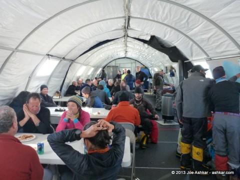 Guides tent at Union Glacier.