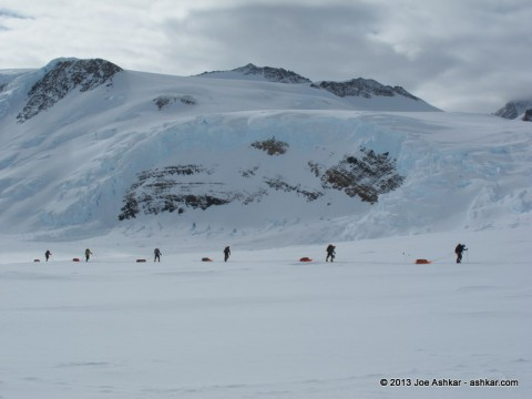 Traveling on the Branscomb Glacier.