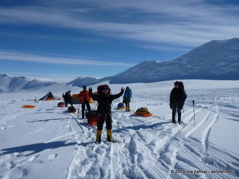 Leaving Vinson Base Camp.
