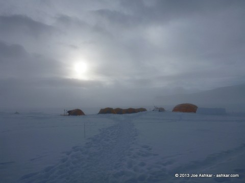 Vinson Low Camp in the morning.