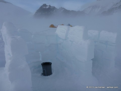 Toilet at Vinson Low Camp.
