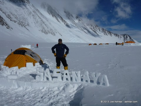 Camp SasaNaya on Mt. Vinson.
