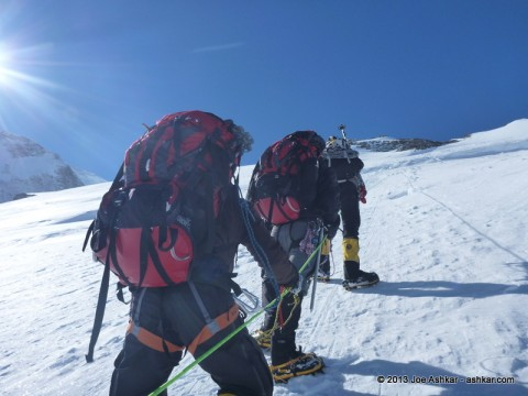 Carrying a load to High Camp.