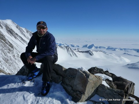 Resting at High Camp on Mt. Vinson.