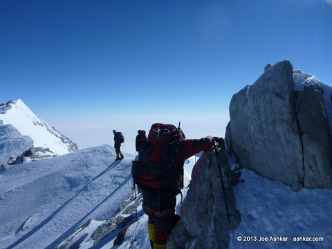 The final steps leading to Vinson's Summit.