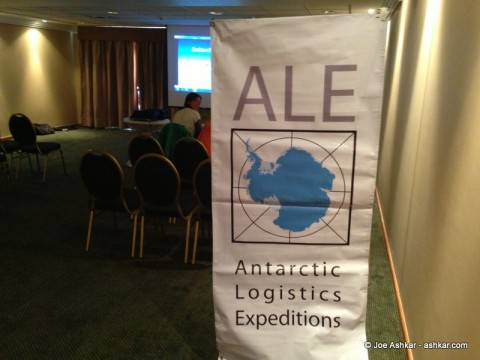 ALE (Antarctic Logistics & Expeditions) briefing room.