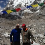 Joe Ashkar & Mark Wilkins in front of Pumori