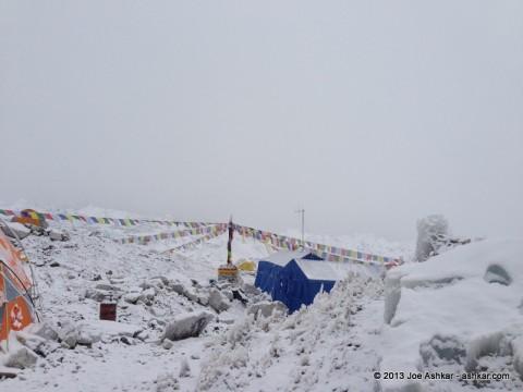 Base Camp under snow.