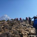 Acclimatization hike above Namche.