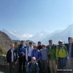 Everest 2013 climbing team in front of Ama Dablam and Everest.