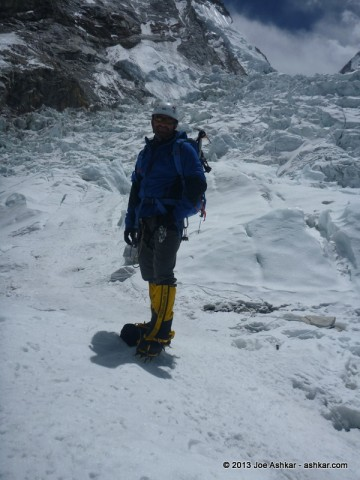 Joe Ashkar in the Khumbu Ice Fall